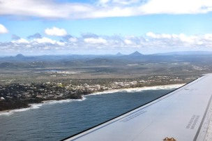 Sunshine Coast Queensland from plane