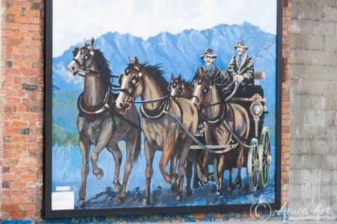 Beautiful Mural of Coachmen