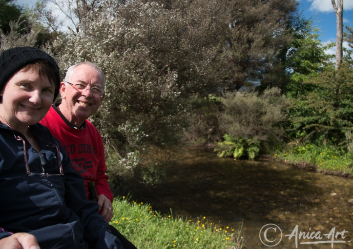 Laurie and Anne at Mole Creek