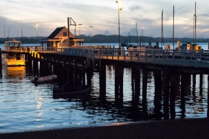 The very picturesque Russell - Paihia Ferry Station
