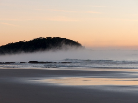 Steamy-sunrise-at-Narrawallee-Beach