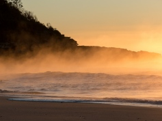Steamy Sunrise at Narrawallee Beach-3