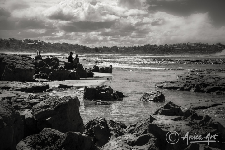 Peaceful Mollymook in monochrome