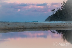 Sunset reflections at Blackwater Creek in Mollymook