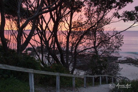 Narrawallee Beach - pink sunrise
