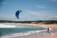 Kite surfing at Bendalong Beach