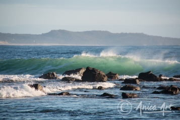 Early morning sunlit waves - Bendalong