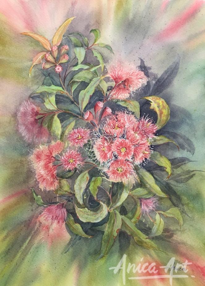 Gum blossoms painting