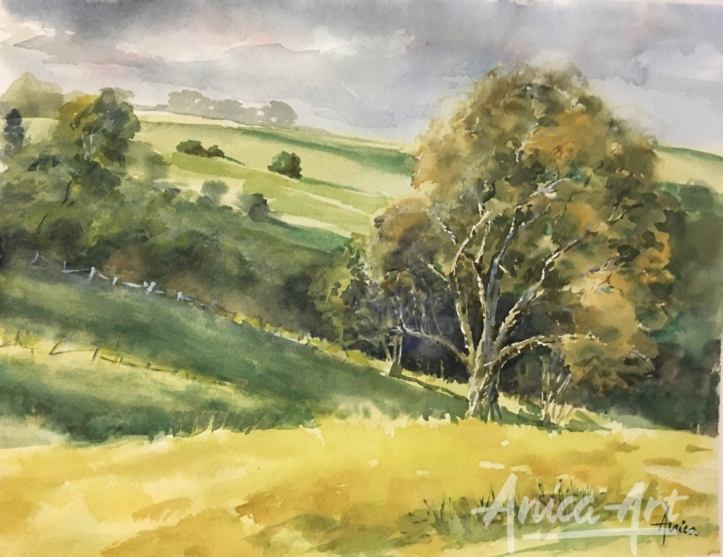 MIlton rolling hills-painting