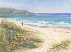 Mollymook beach painting